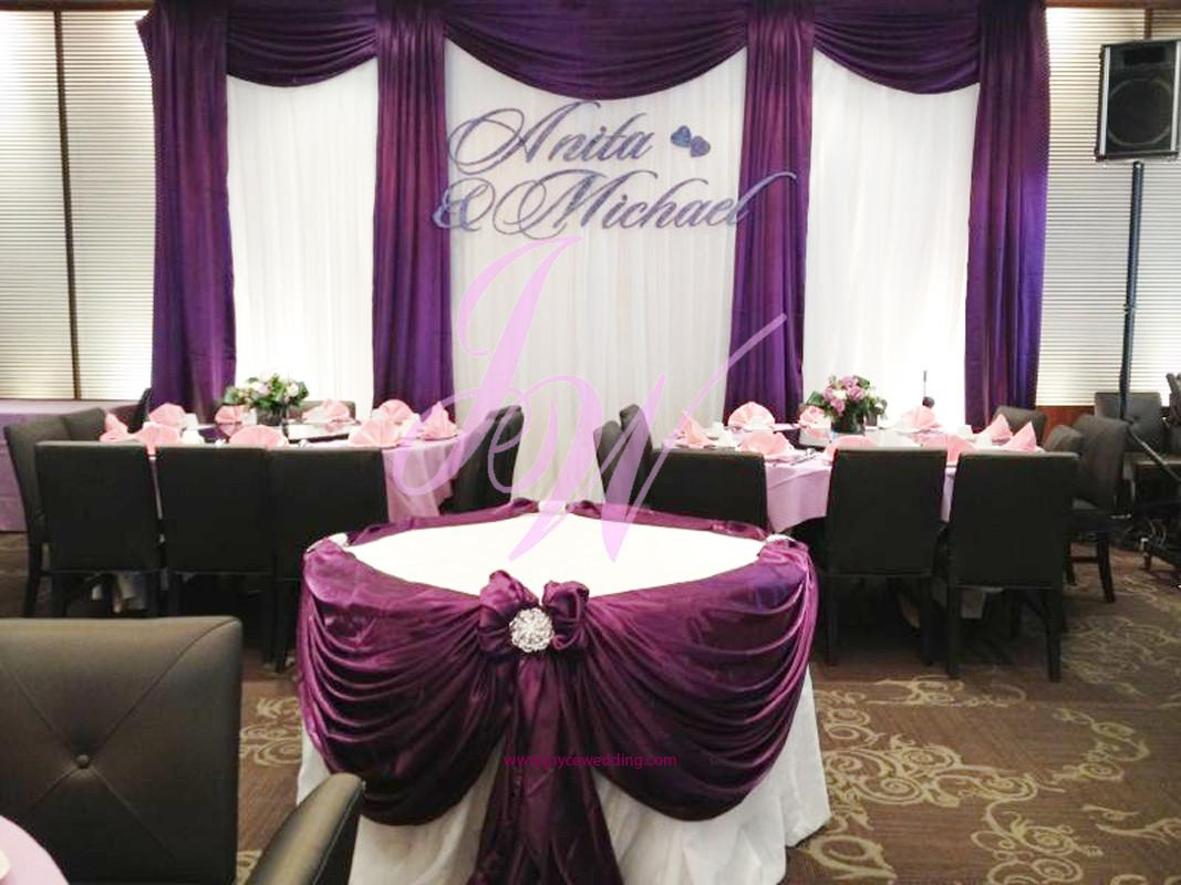 Purple Decoration Weddings Joyce Wedding Services