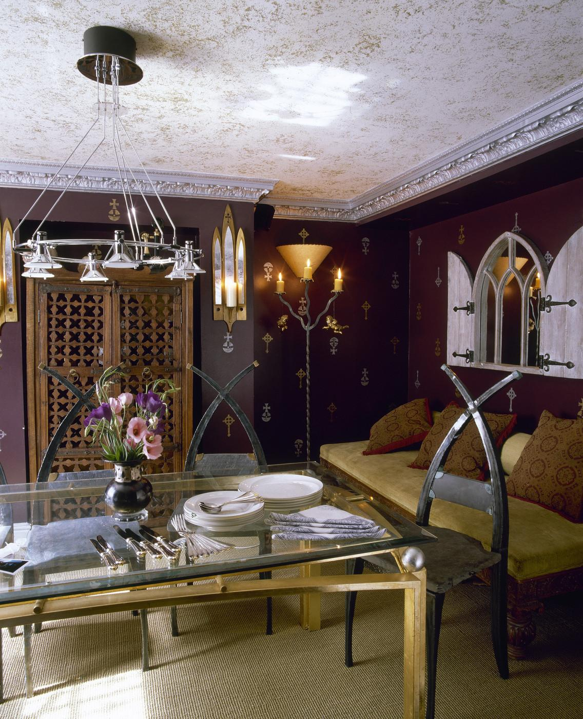 Purple Eclectic Dining Room Decorating Ideas