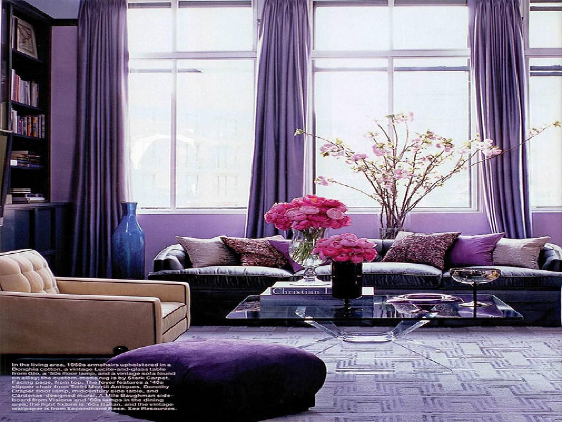 Purple Grey Room Beautiful Design