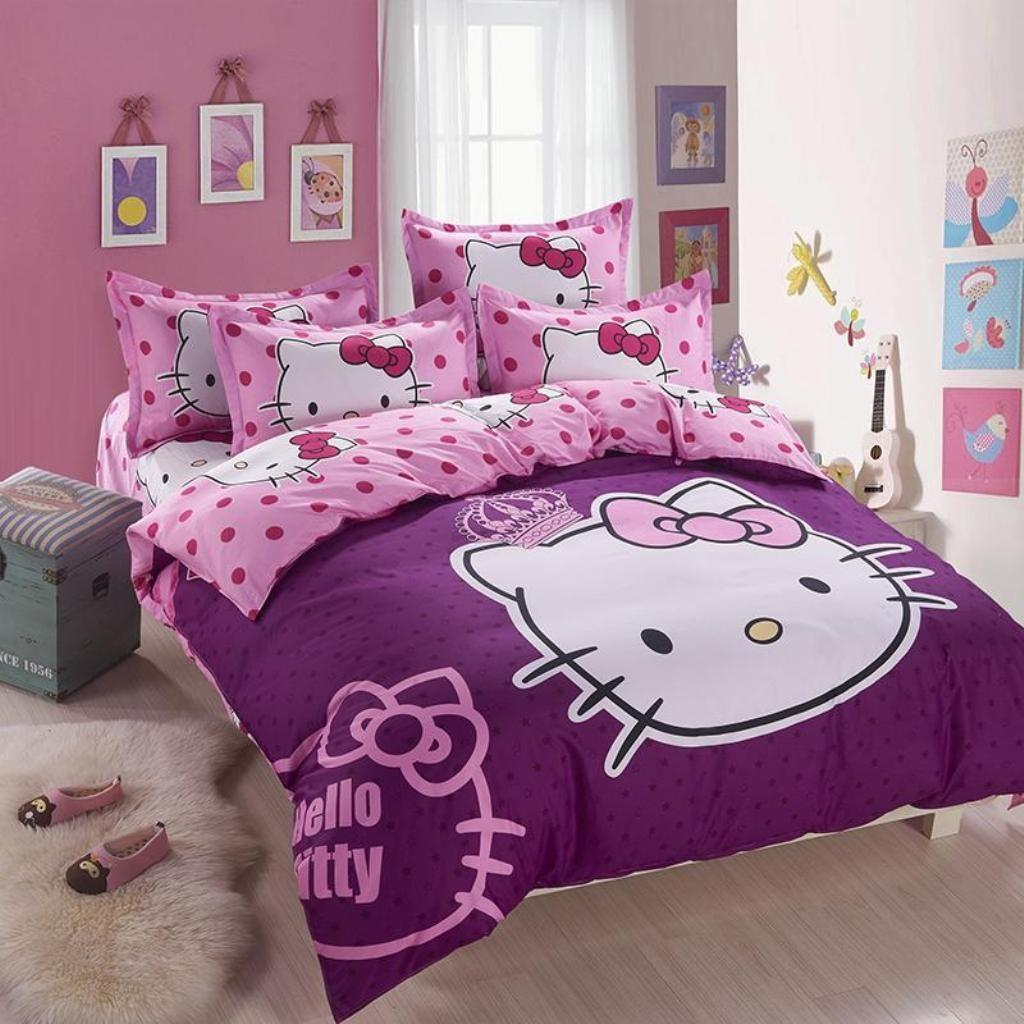 Purple Hello Kitty Bed Linen Elegant