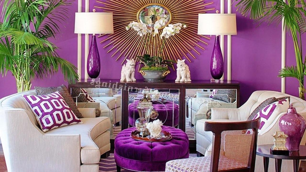 Purple Living Room Decor Acehighwine