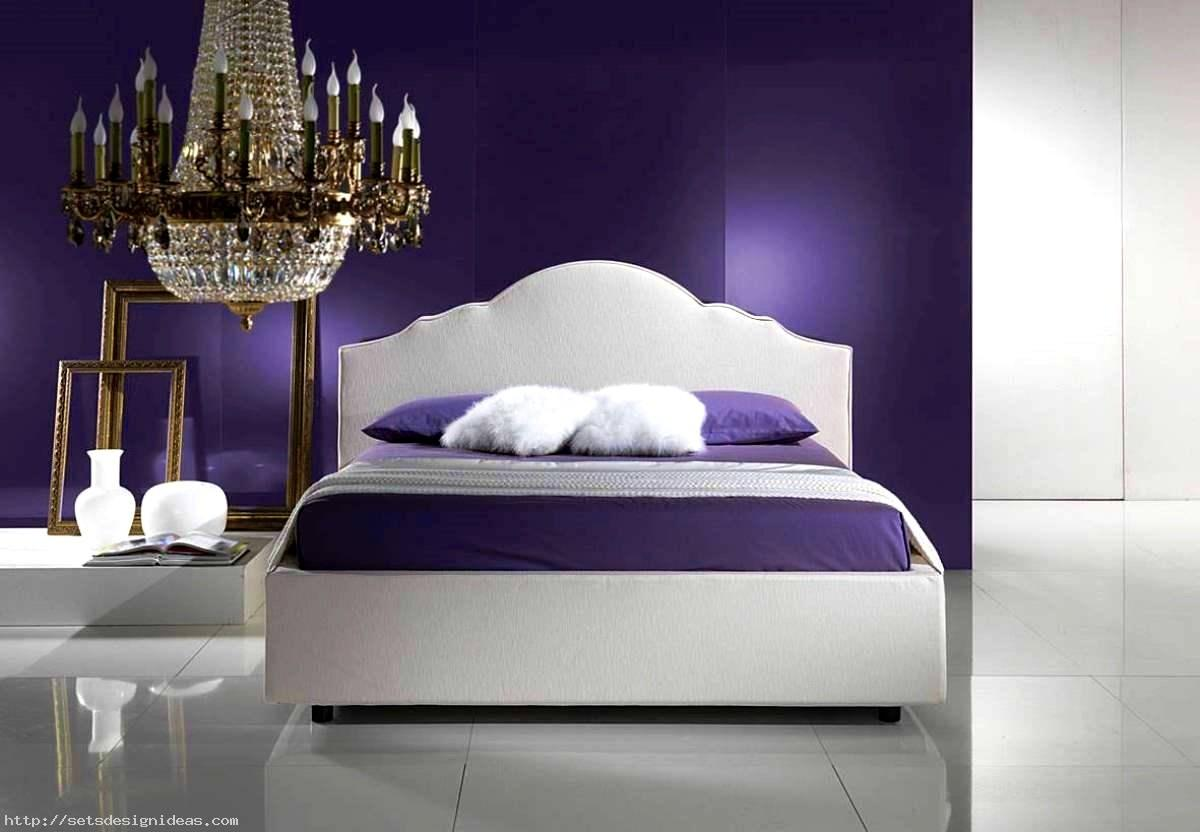 Purple White Bedroom Decor Inspiration
