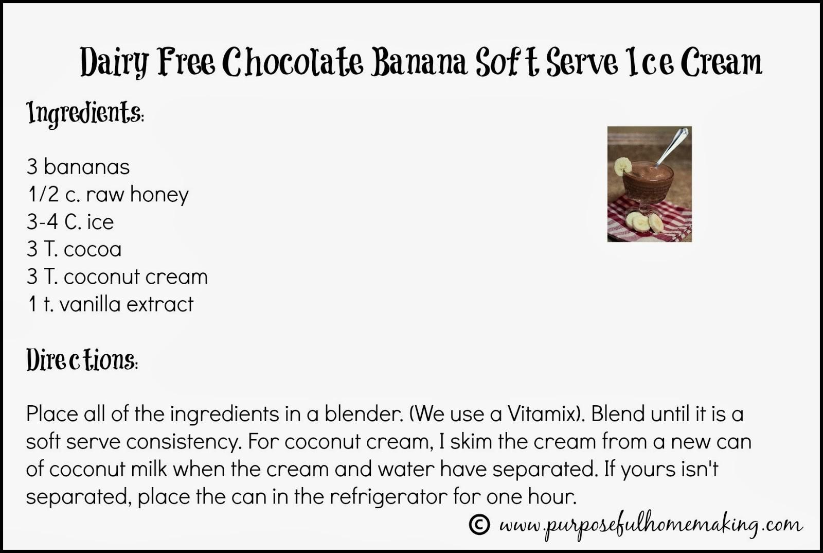 Purposeful Homemaking Dairy Soft Serve Chocolate