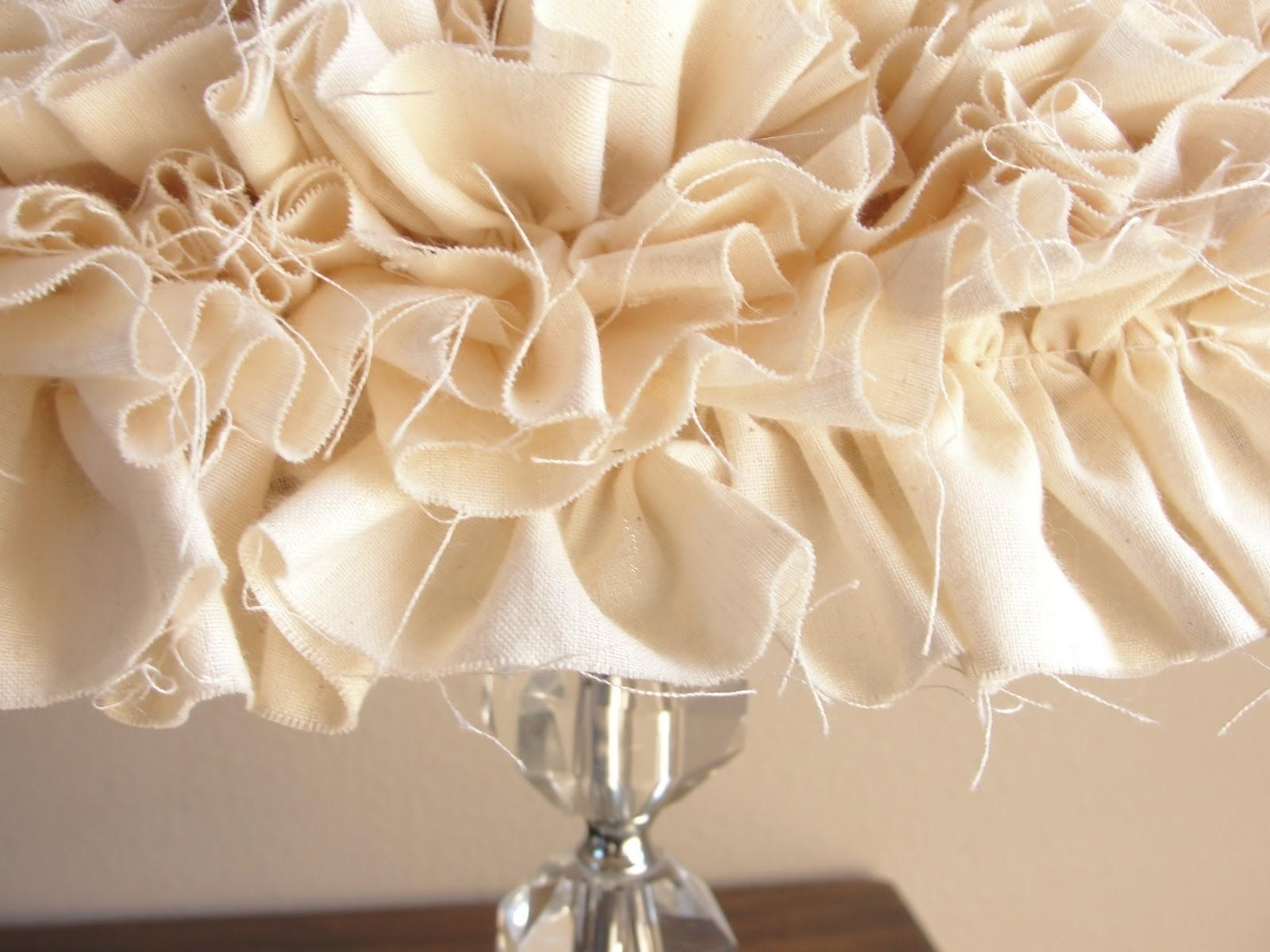 Putting Down Roots Ruffled Lampshade Diy
