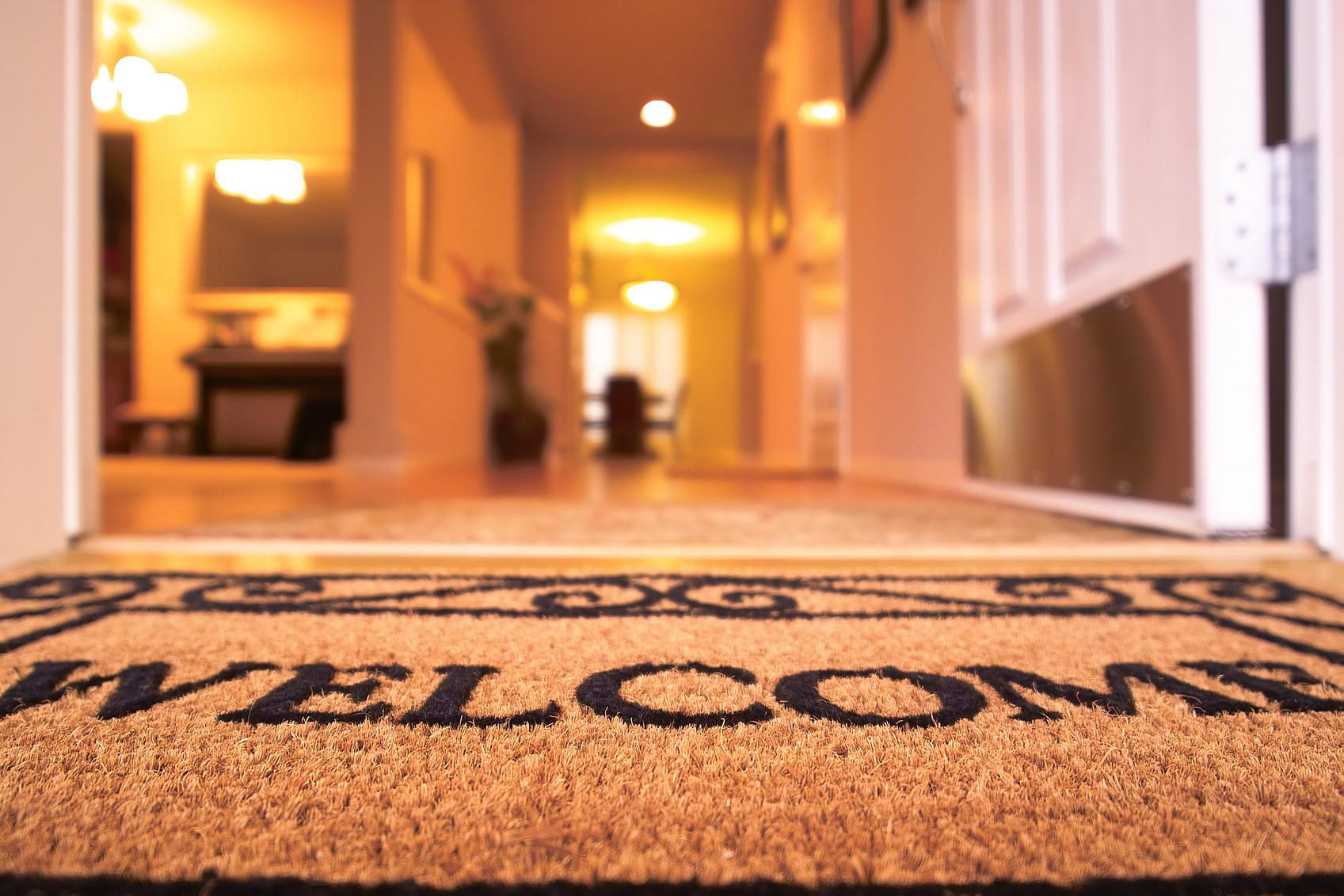 Putting Out Welcome Mat Eyes Wide Open