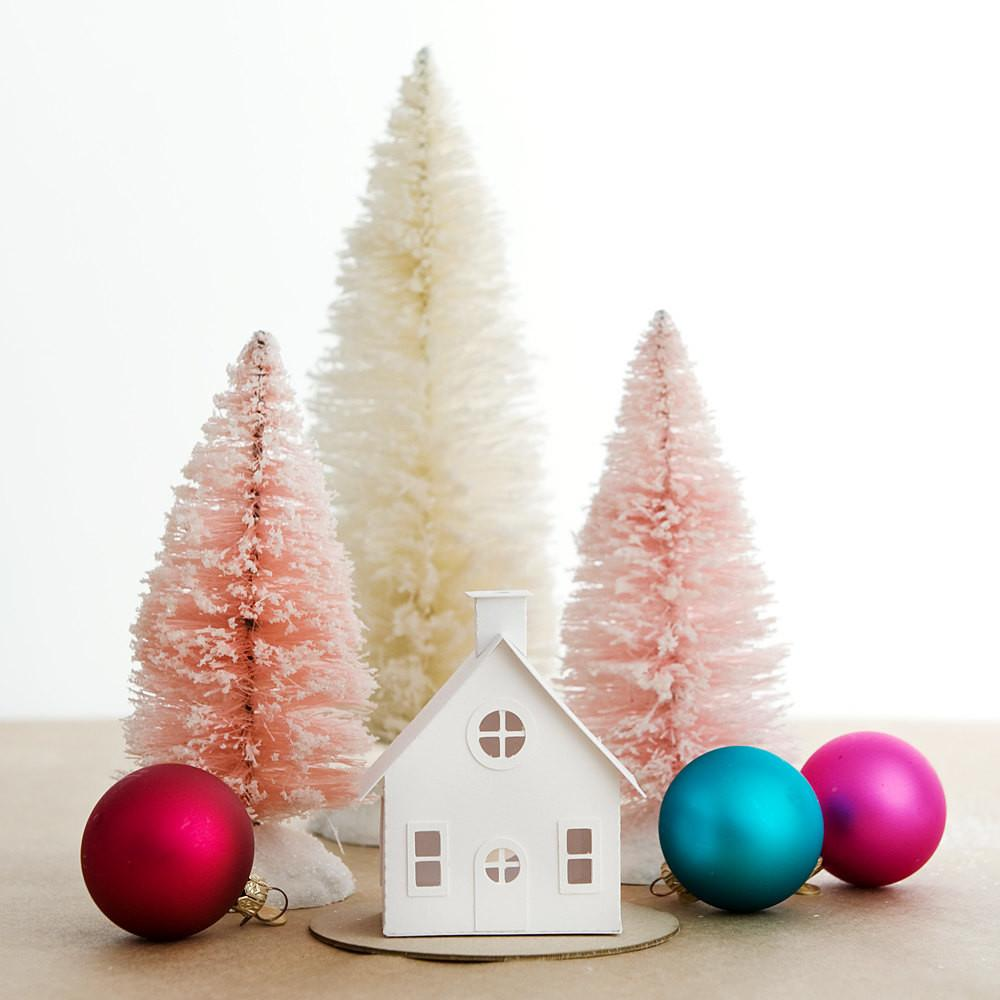 Putz House Diy Ornament Kit Bungalow Glitter Christmas