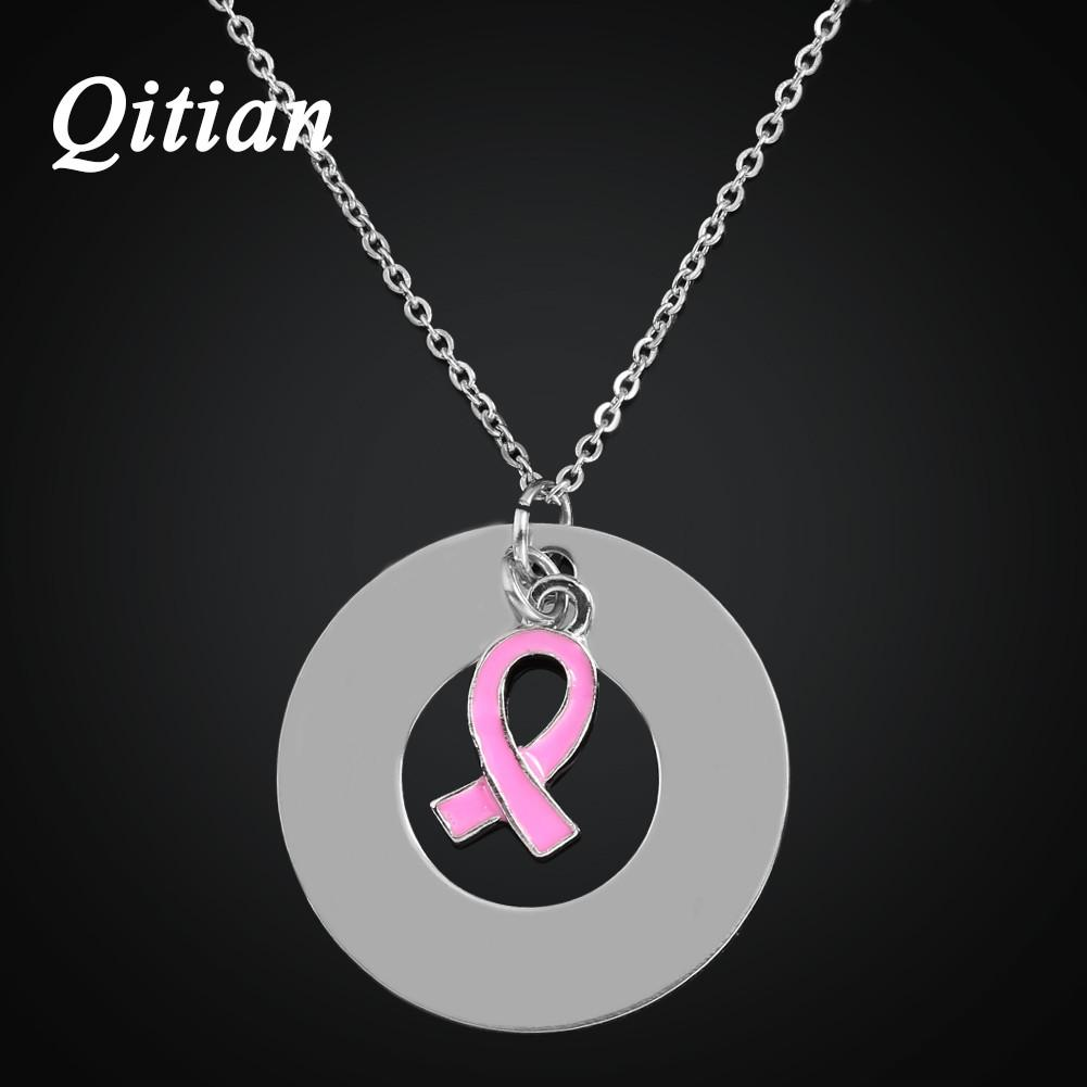 Qitian Personalized Engraved Round Pendant Necklace Women