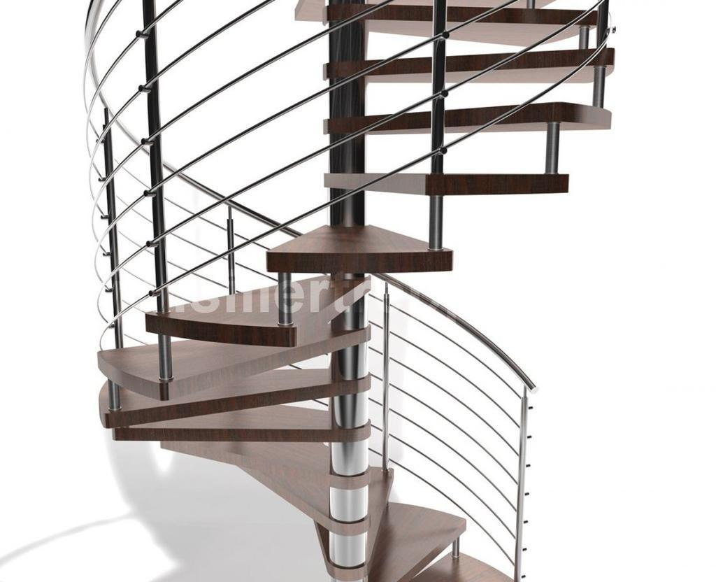 Quality Spiral Stair Wood Stainless Steel Combination