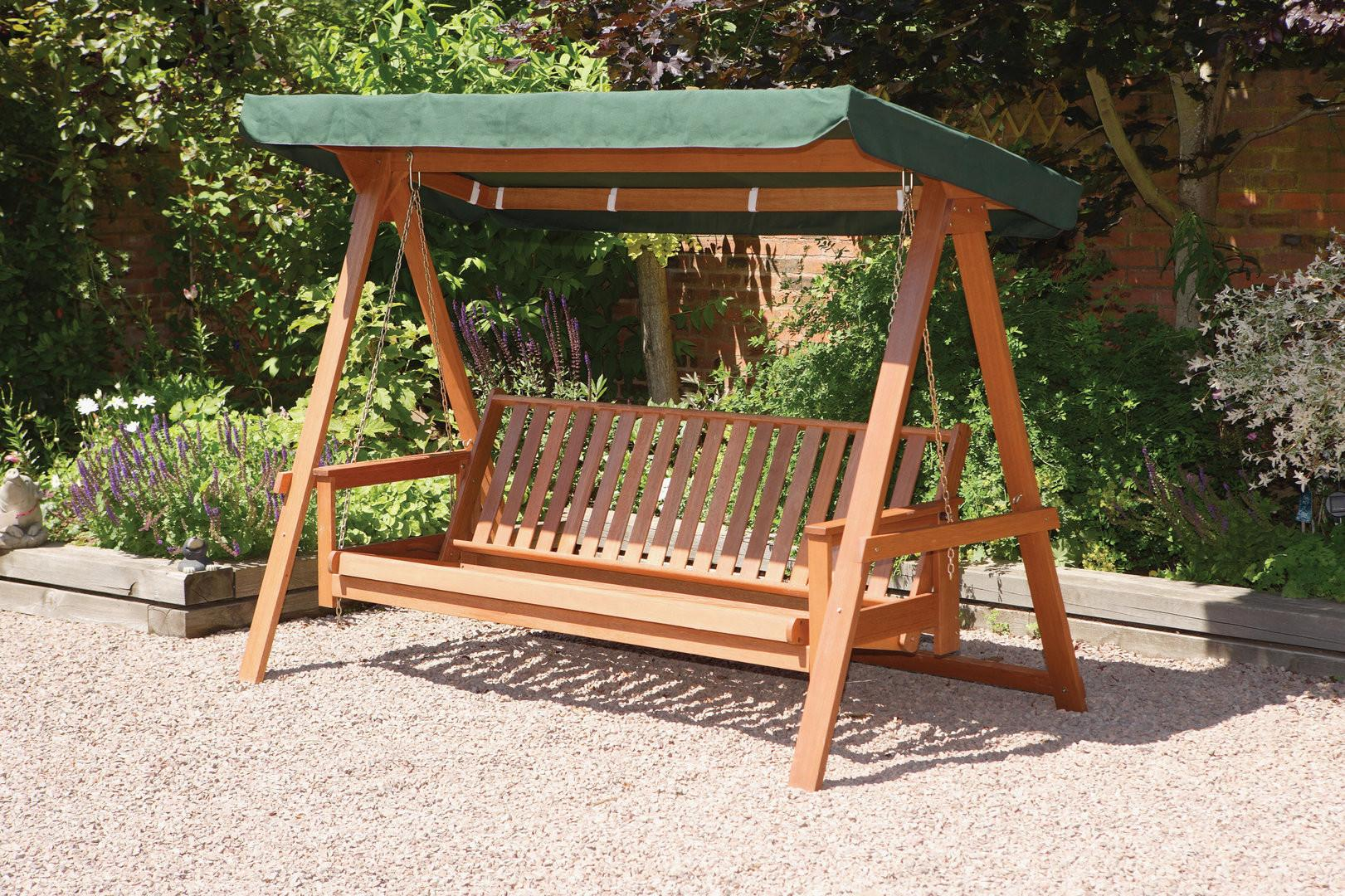 Quality Wooden Seater Garden Swing Bed Hammock