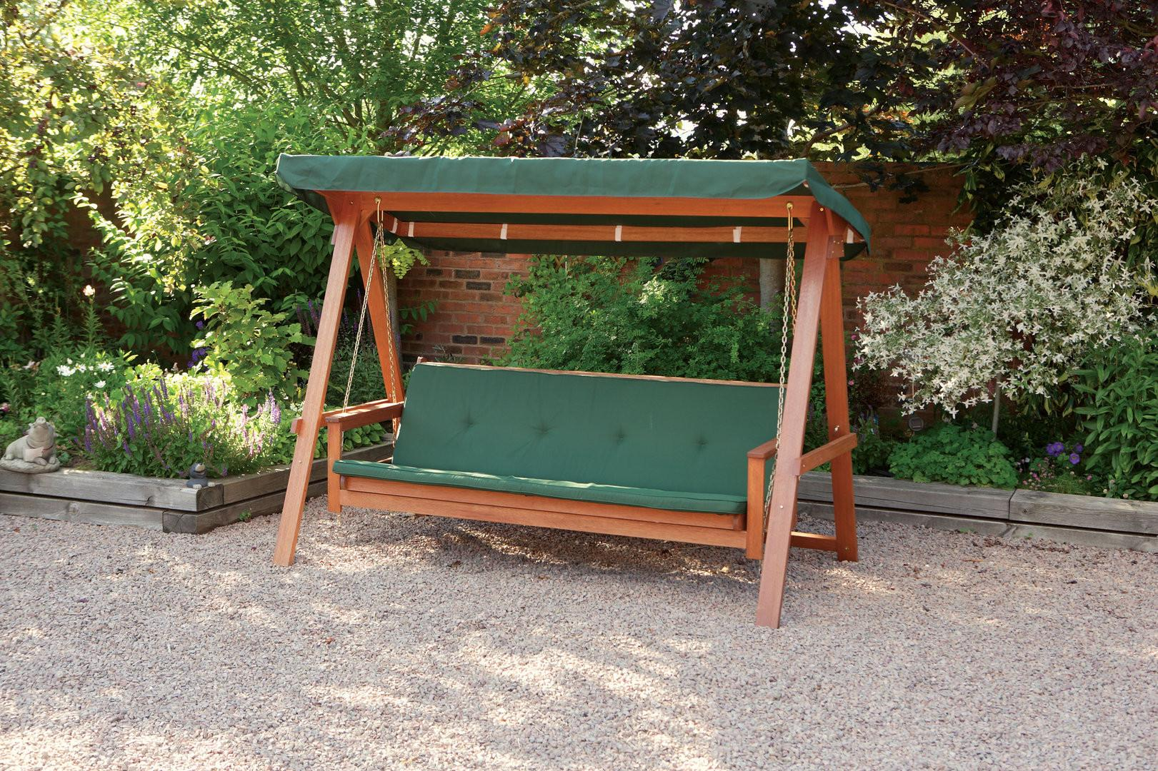 Quality Wooden Swing Bed Seater Garden Seat
