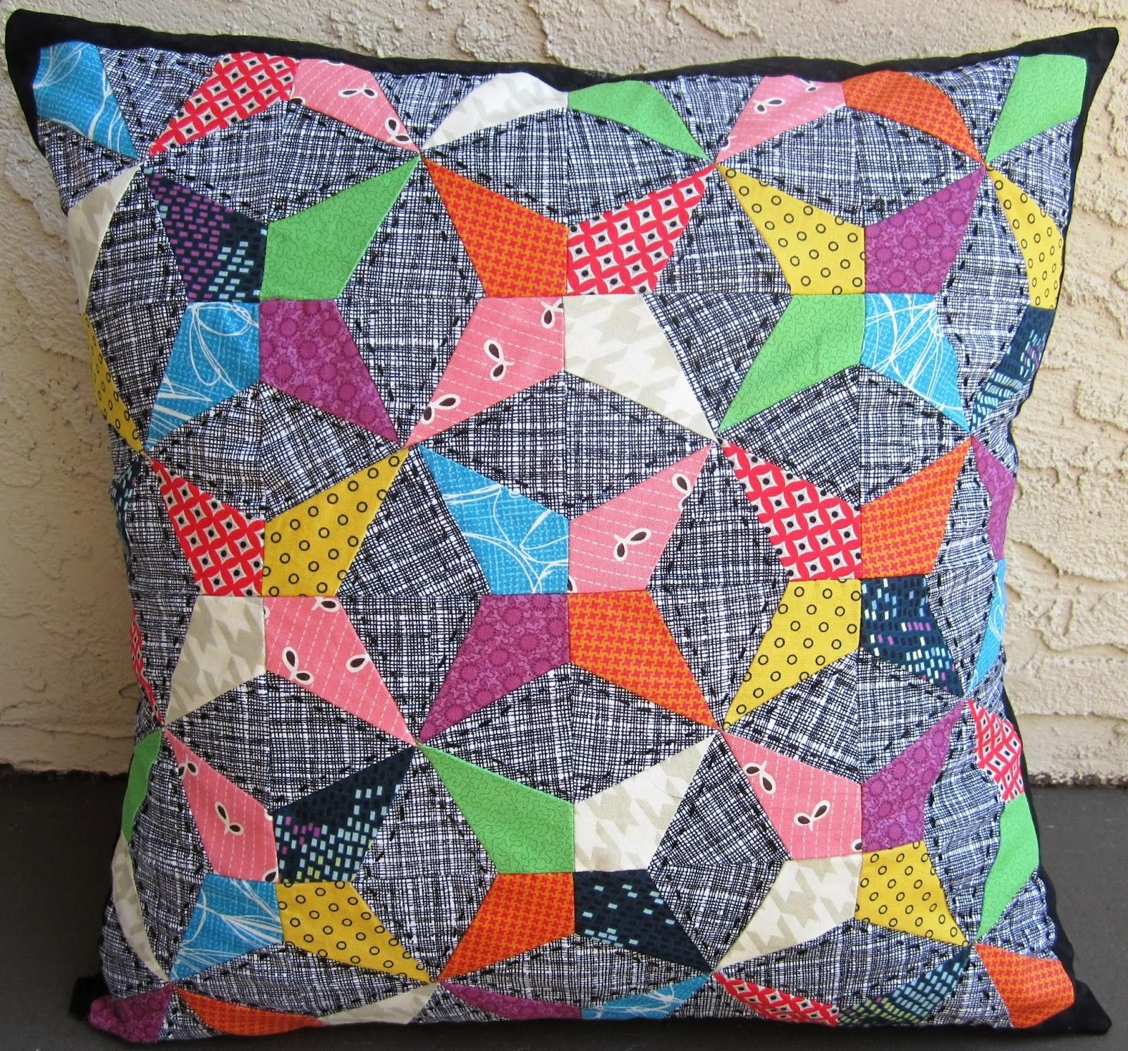 Quarter Incher Kaleidoscope Pillow 100th Post Giveaway