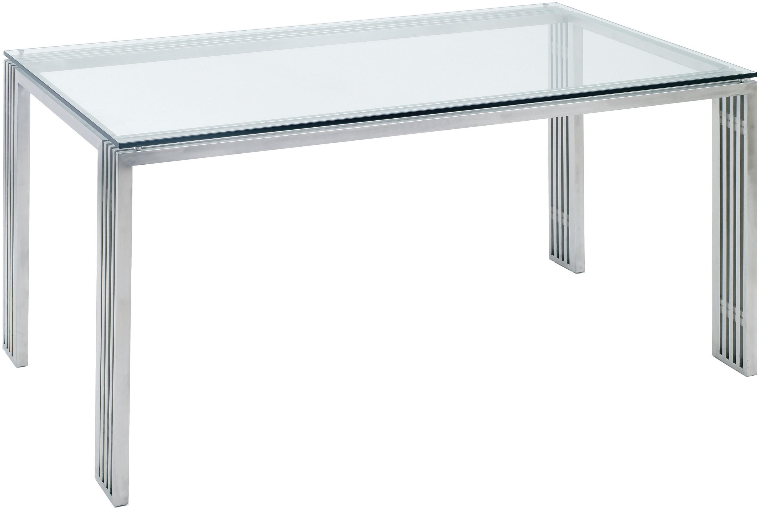 Quasi Dining Table Brushed Stainless Steel