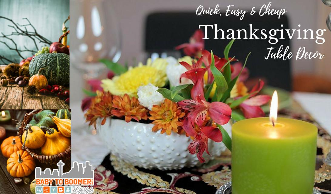 Quick Easy Cheap Thanksgiving Table Decor Minutes