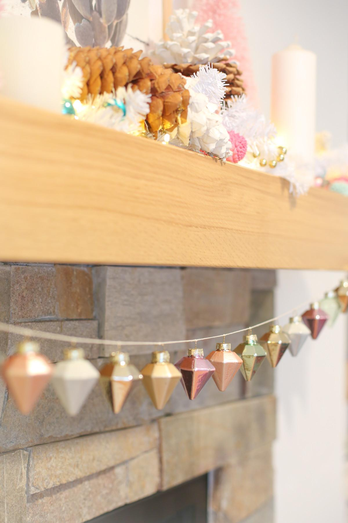 Quick Easy Diy Ornament Garland Your Mantel