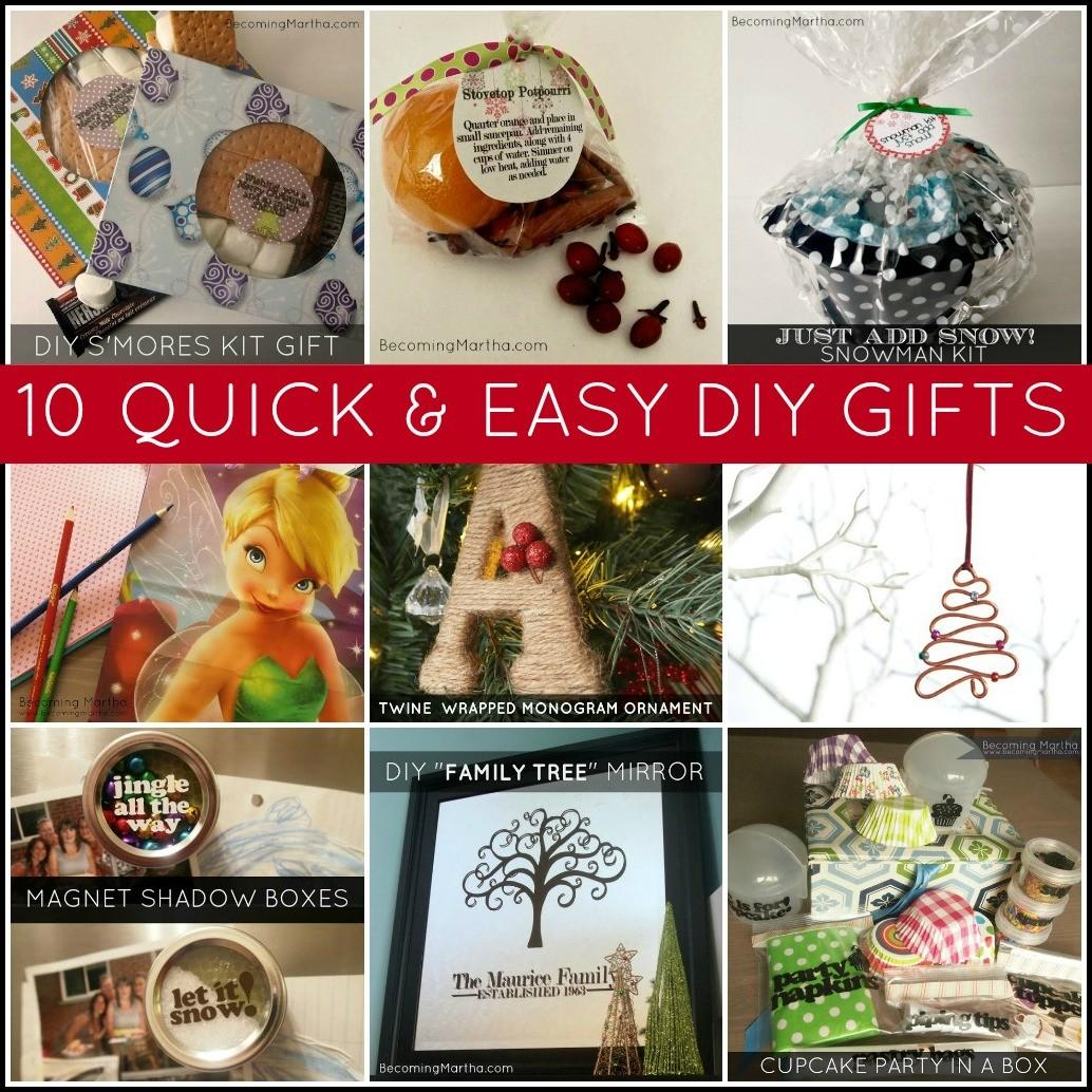 Quick Easy Last Minute Diy Gifts Becoming Martha