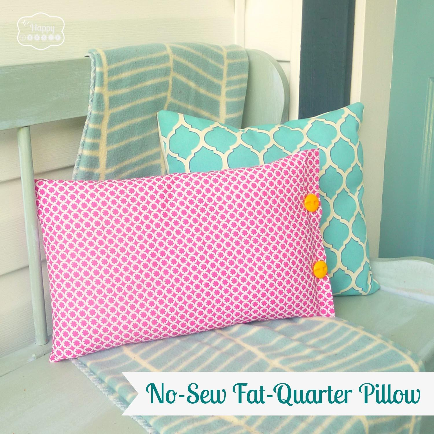 Quick Easy Sew Fat Quarter Pillow Our Pink