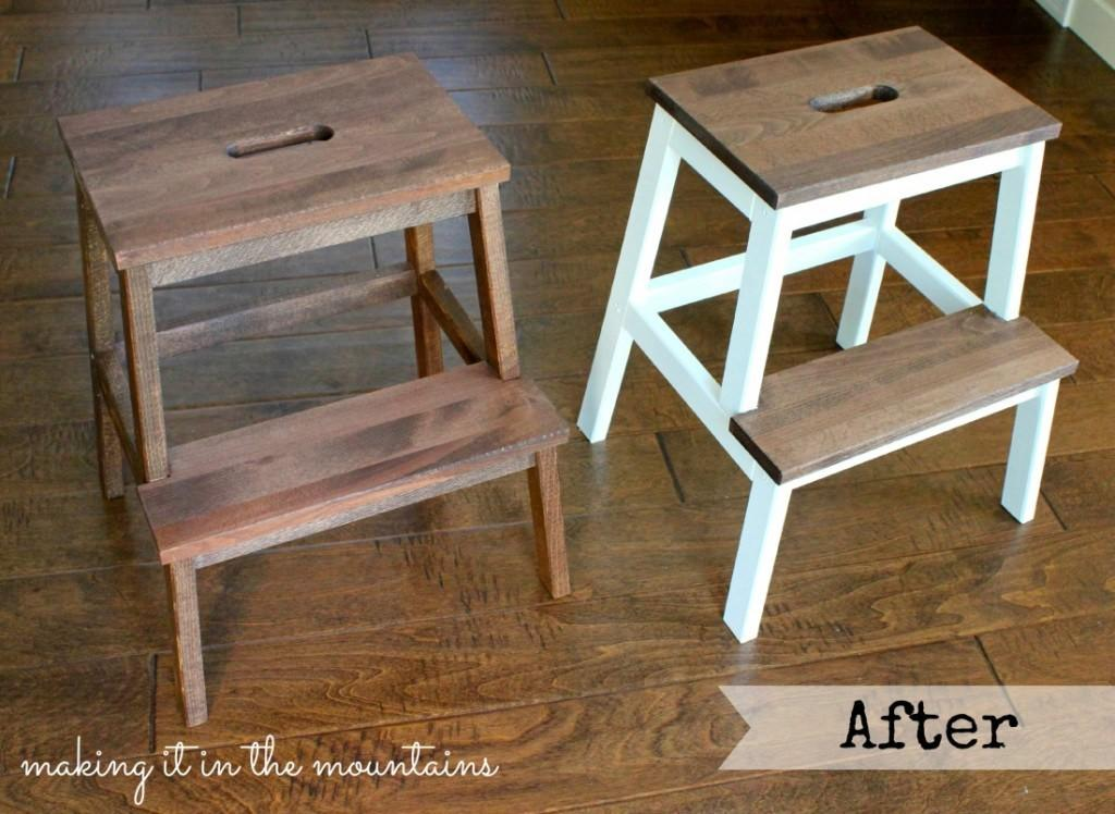 Quick Easy Step Stool Makeover