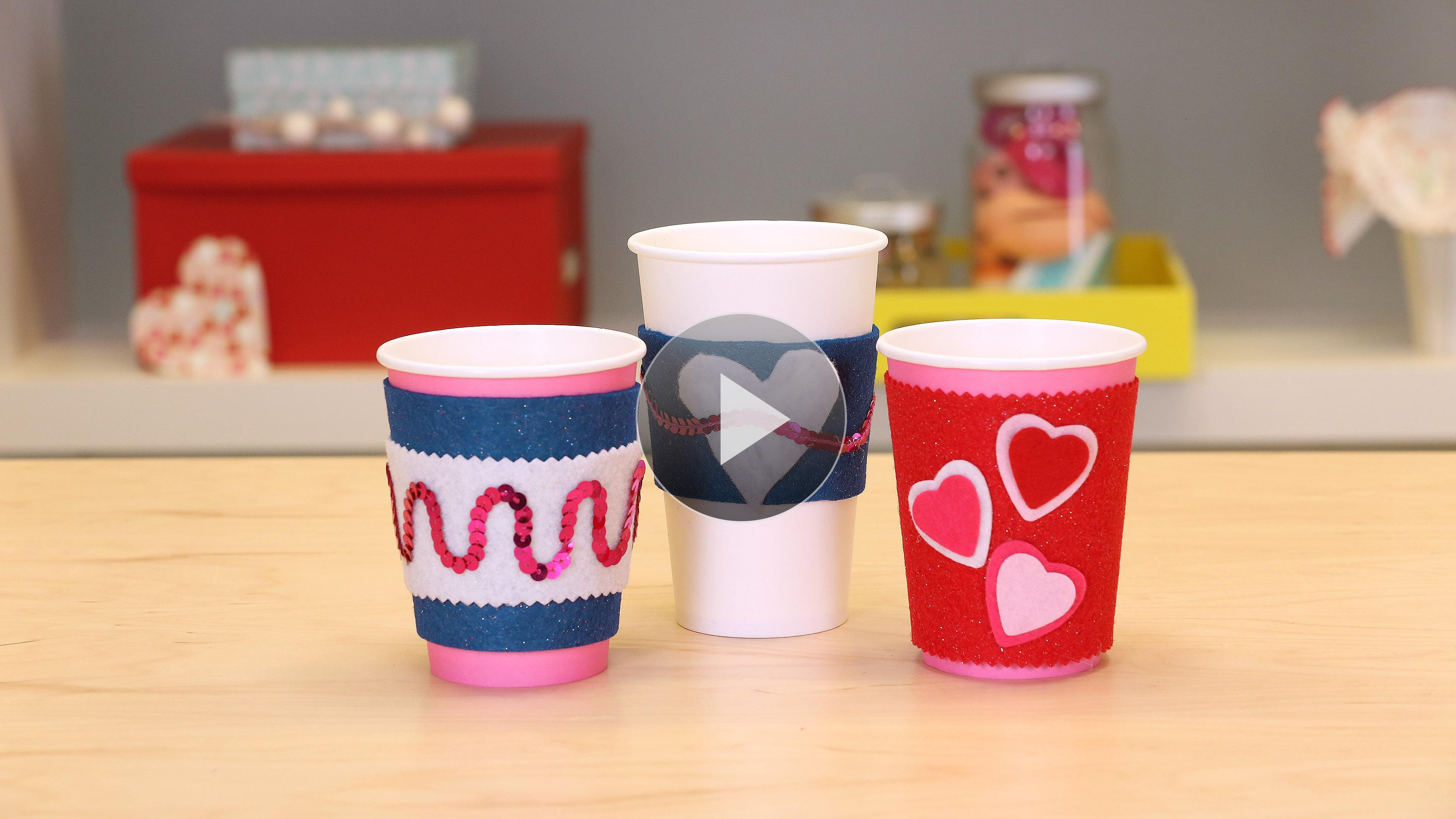 Quick Easy Valentine Day Craft Cup Cozy