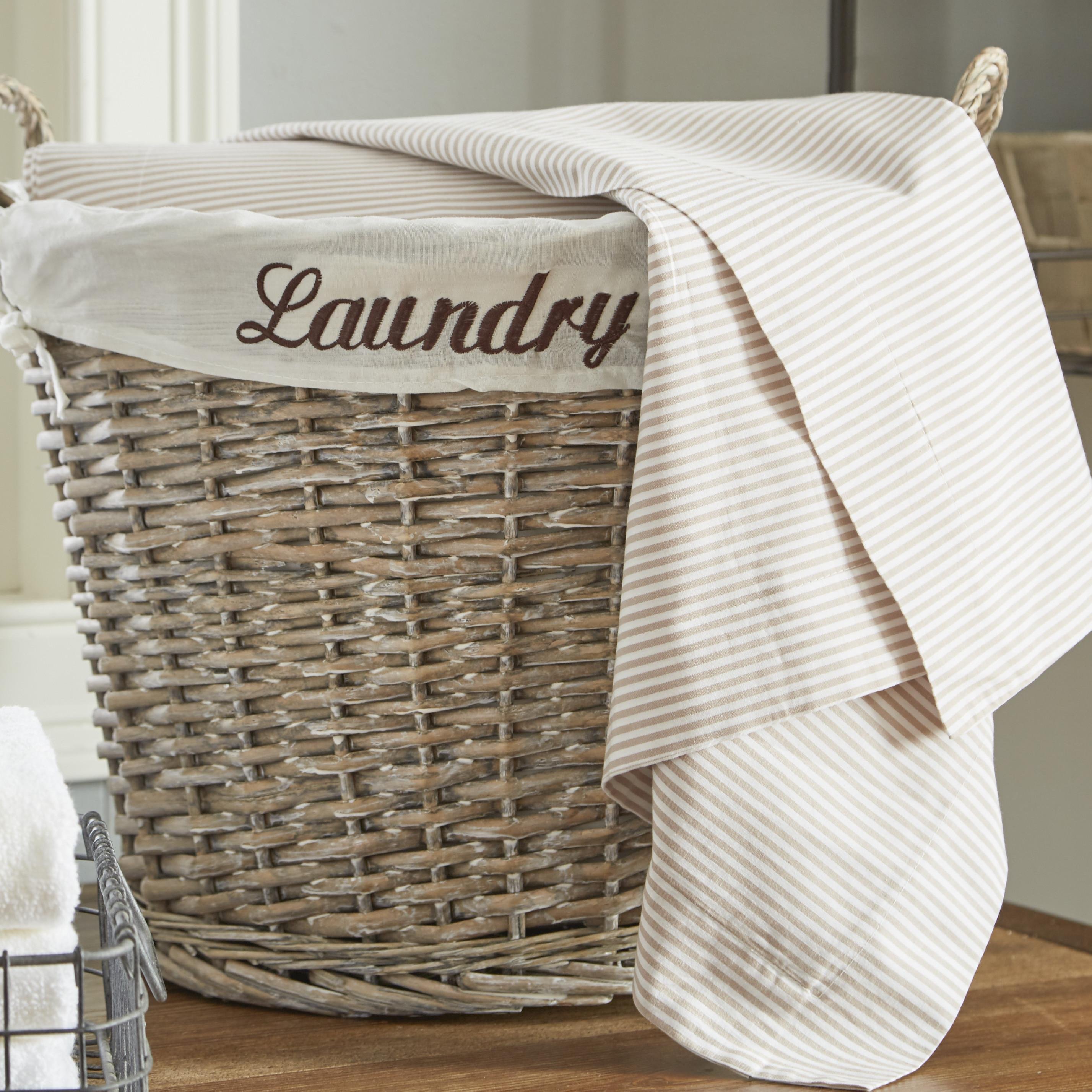 Quickway Imports Wicker Laundry Basket