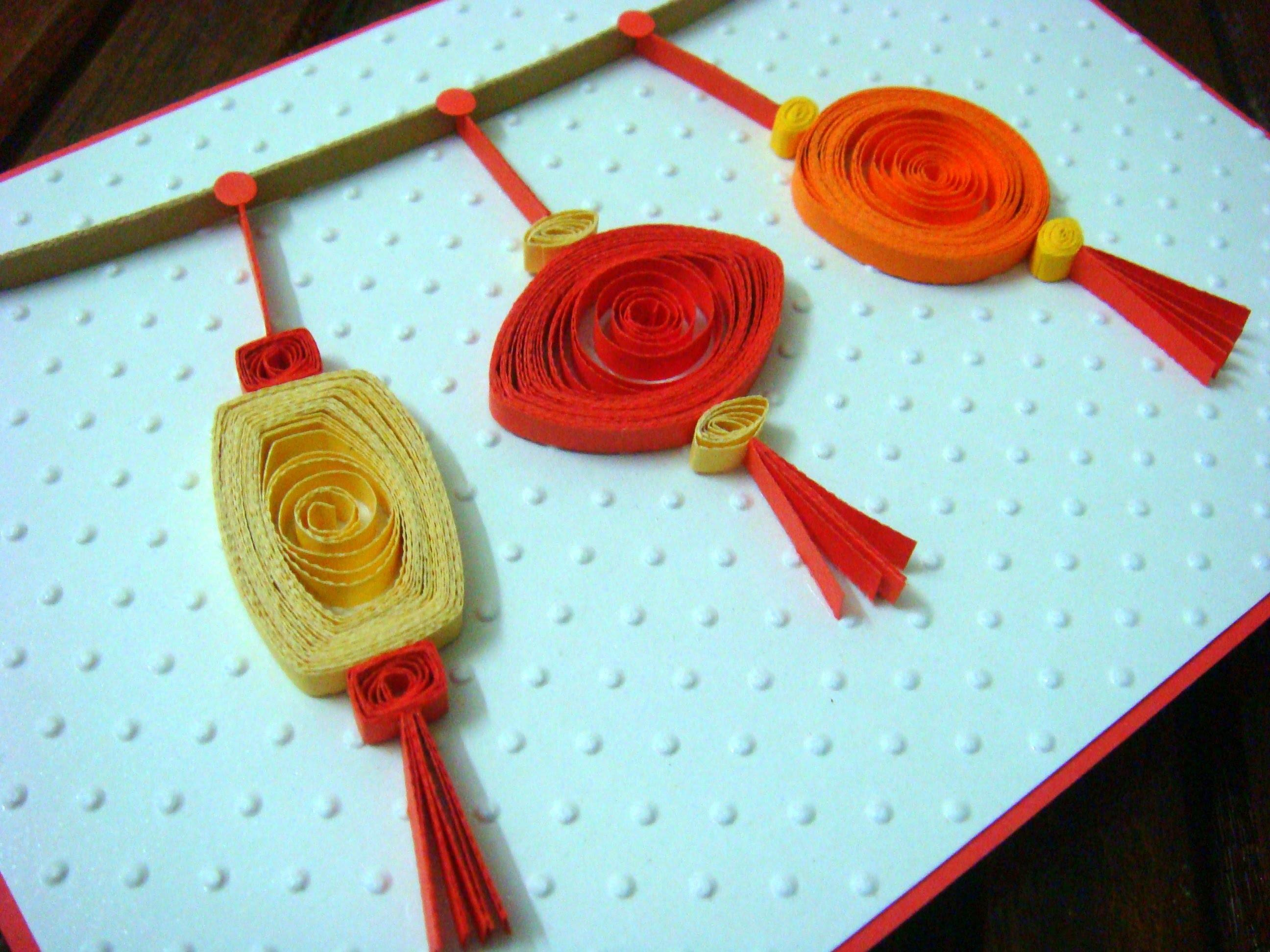 Quilled Lanterns Chinese New Year Card