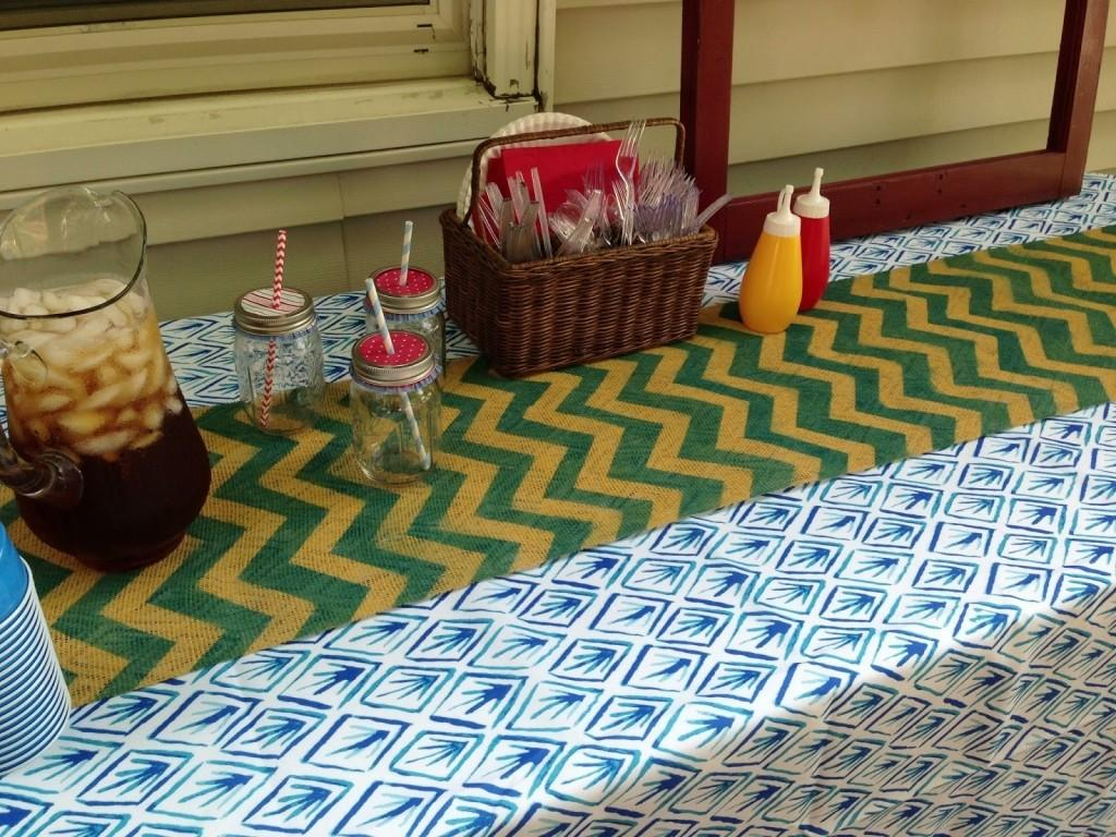Quilted Chevron Table Runner Tutorial Tag Unique