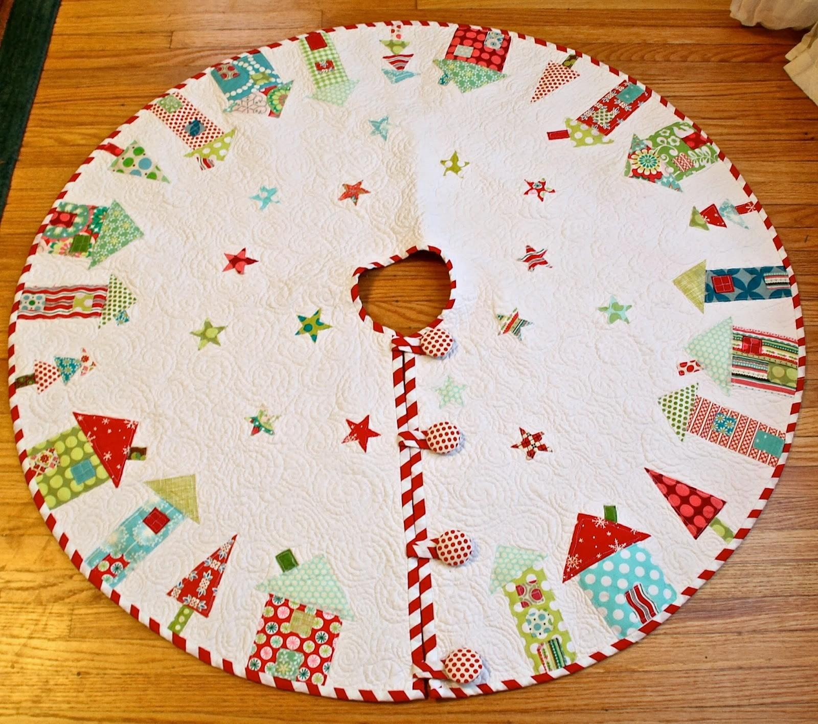 Quilted Christmas Tree Skirt Tutorials Want Try