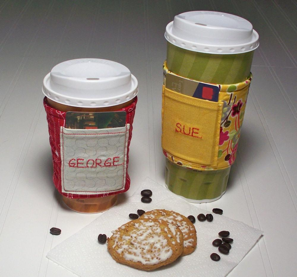 Quilted Coffee Cup Insulated Sleeve Gift Card