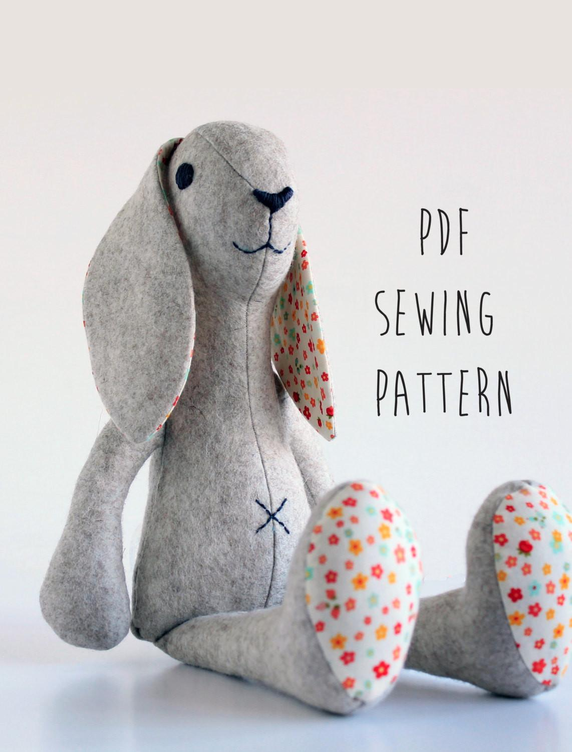 Rabbit Sewing Pattern Pdf Instant Bunny