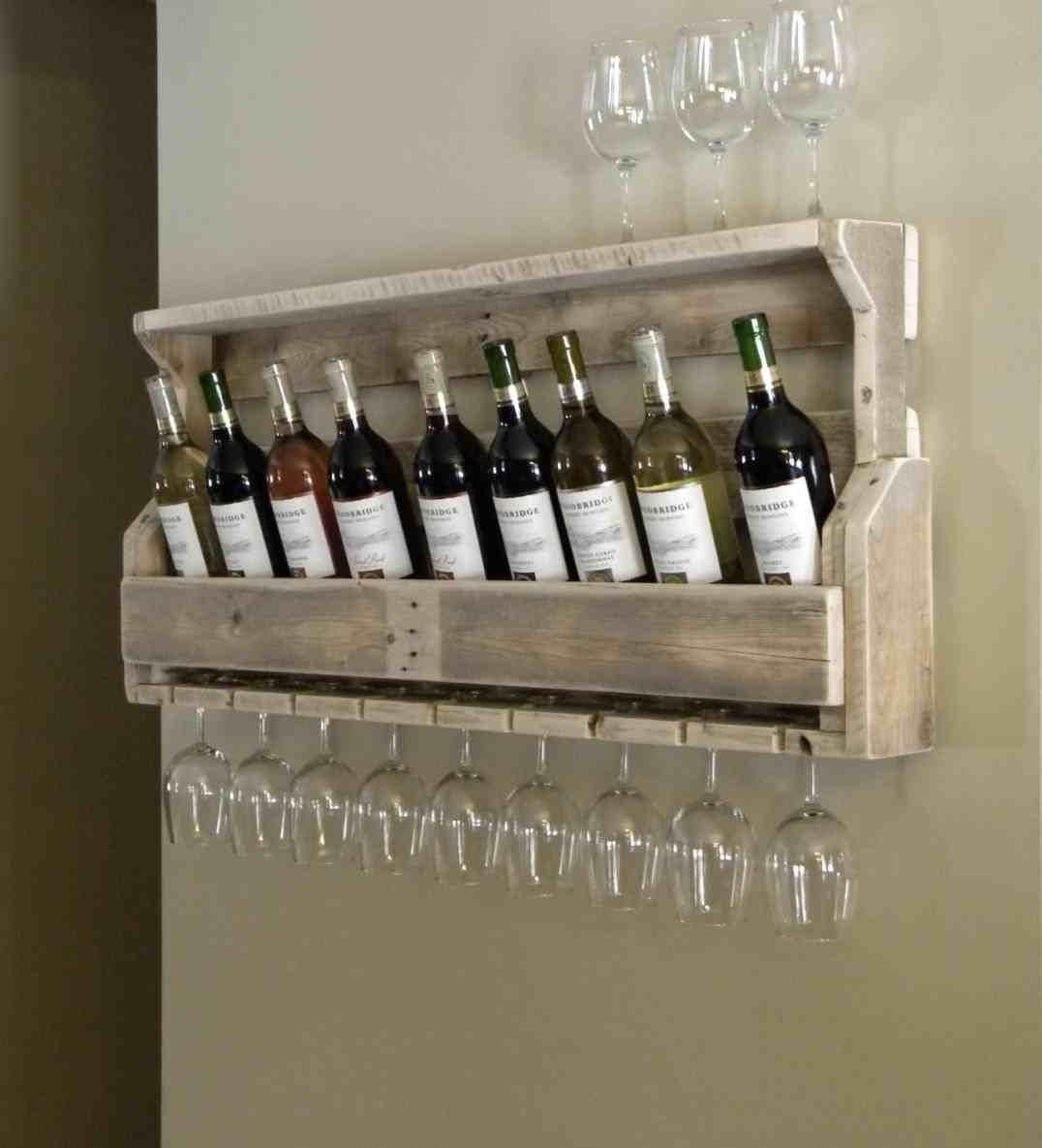 Rack Racks Rustic Pallet Wine Storage