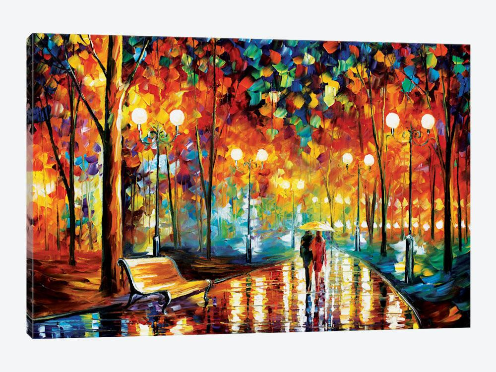 Rain Rustle Canvas Art Leonid Afremov Icanvas