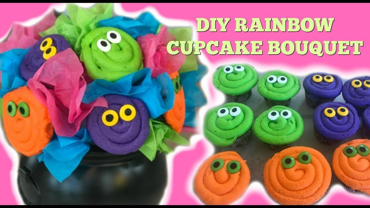Rainbow Cupcake Bouquet Giveaway Diy