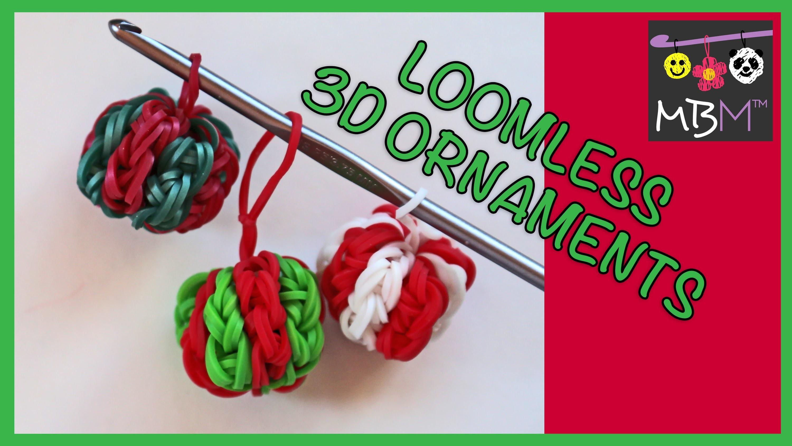 Rainbow Loom Band Charm Diy Christmas Ornaments Loomless