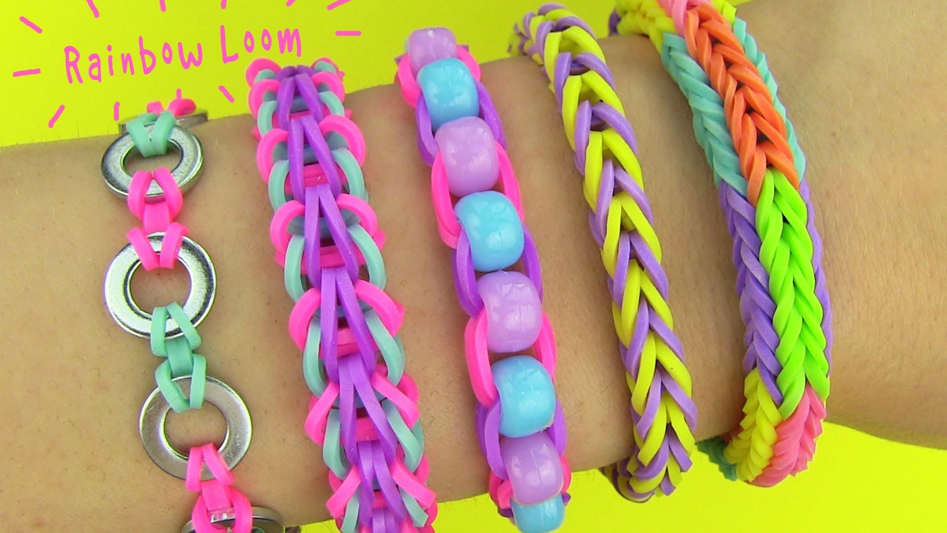Rainbow Loom Diy Easy Bracelets Without