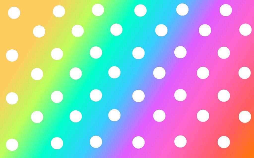 Rainbow Polka Dot Cliparts