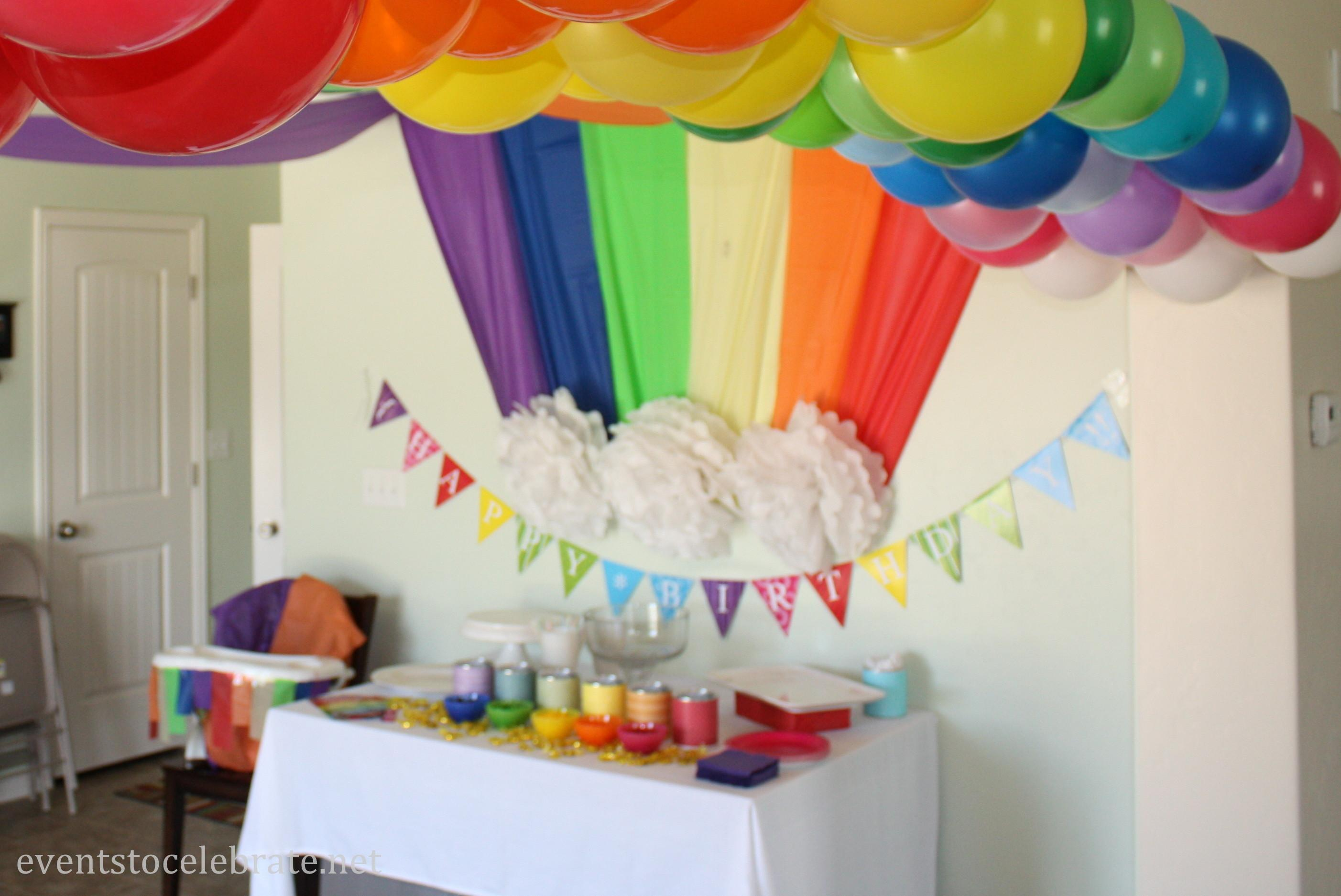Rainbow Themed Birthday Party Events Celebrate