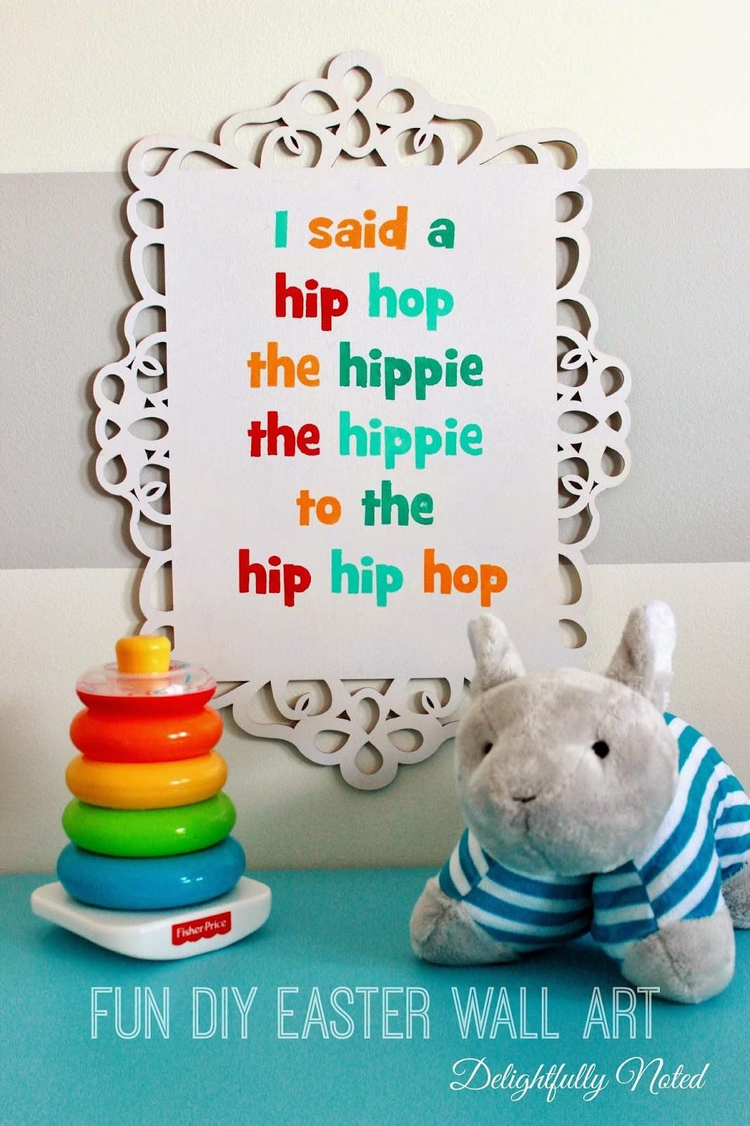 Rapper Delight Diy Easter Wall Art Delightfully Noted