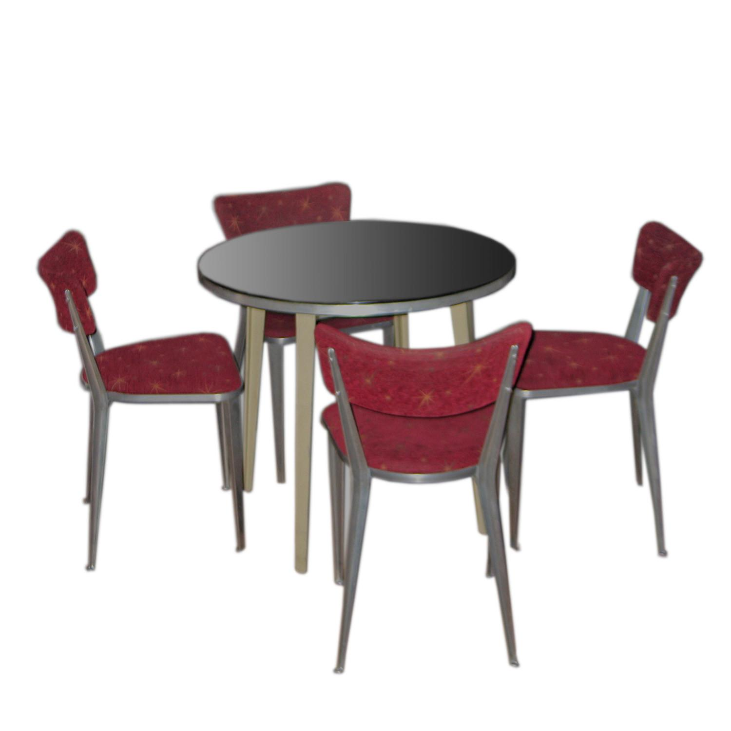 Rare Ernest Race Table Set Chairs Modernism