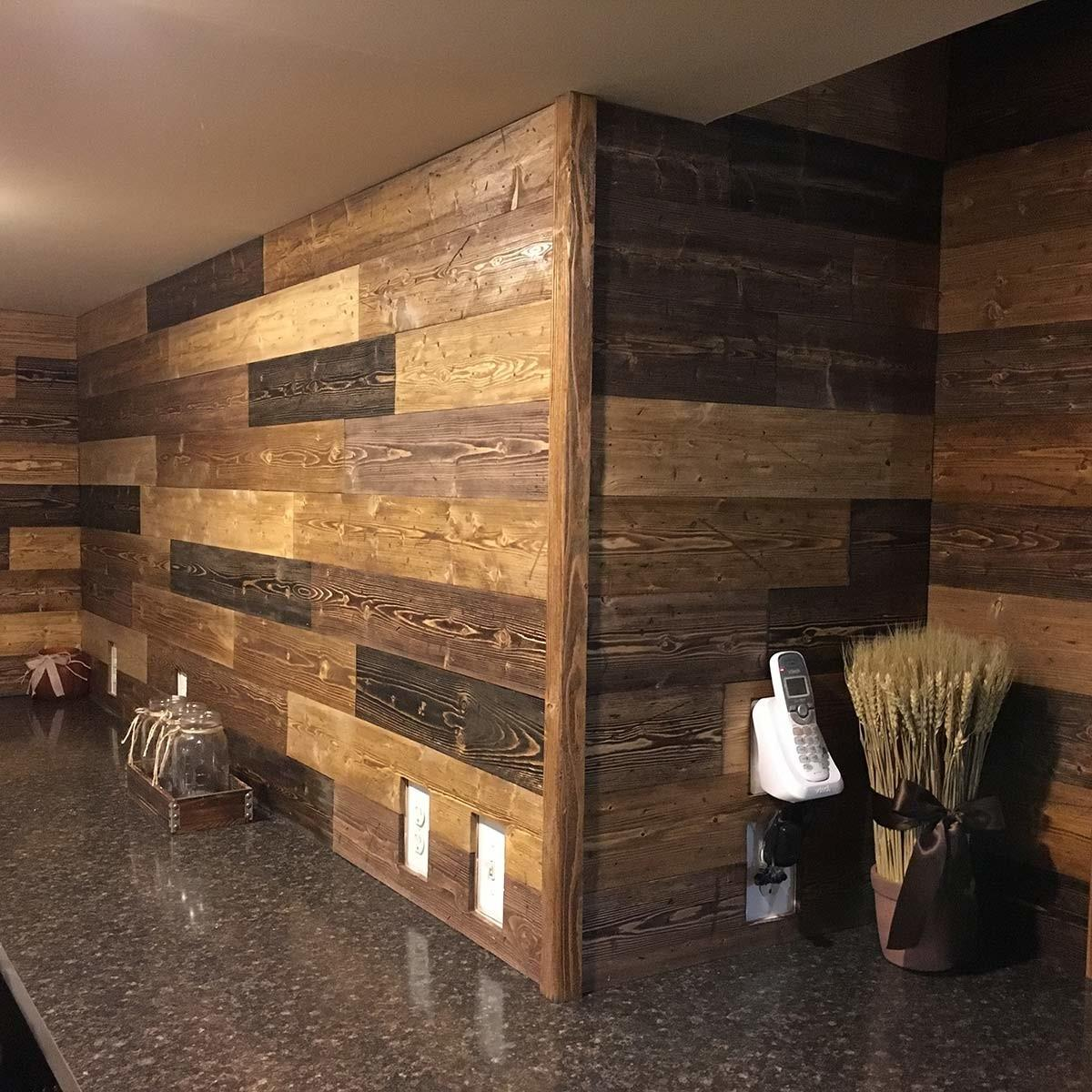 Reader Project Diy Pine Accent Wall Family Handyman