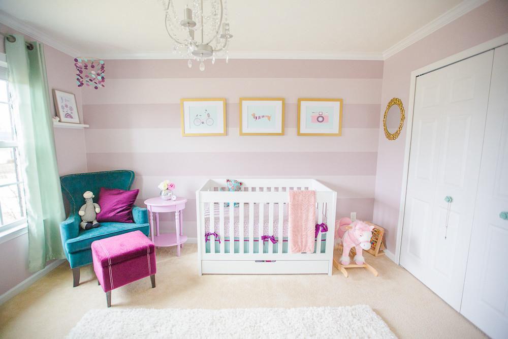 Readers Favorite Purple Teal Mauve Nursery