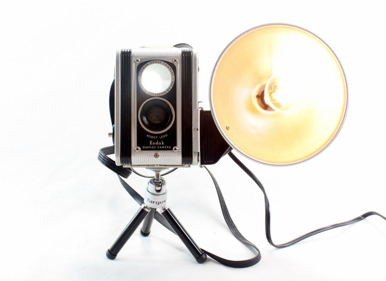 Reading Lamp Black Kodak Duaflex Vintage Camera Mini