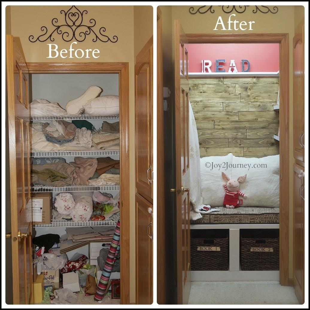 Reading Nook Before After Joy Journey