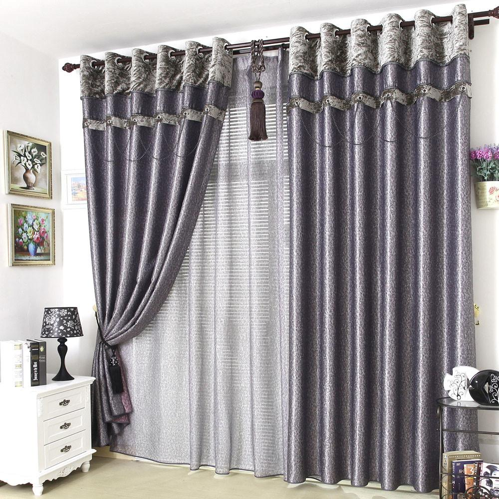 Ready Made Sheer Curtains Tab Top Semi