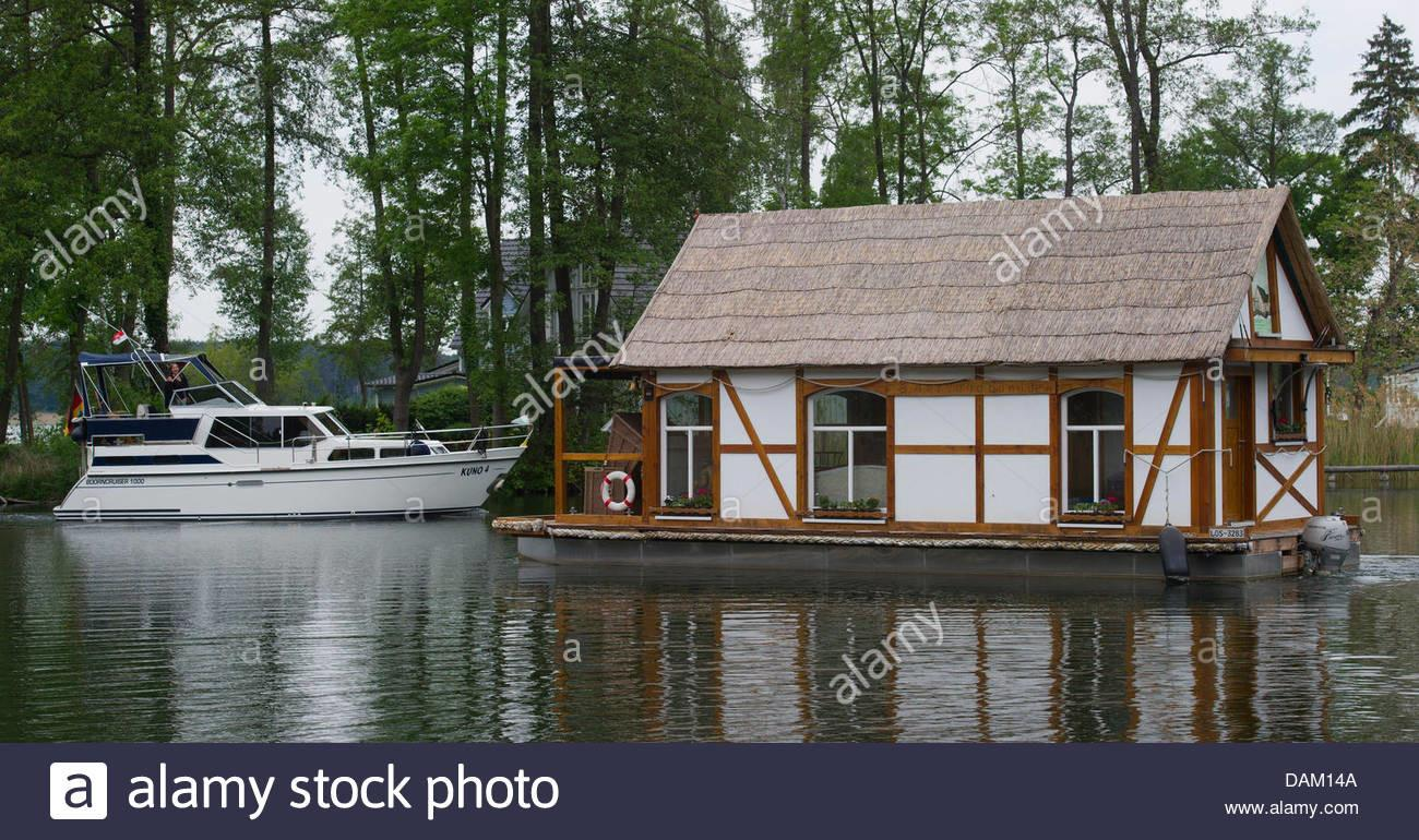Real Estate Agent Harald Busse His Floating House Boat