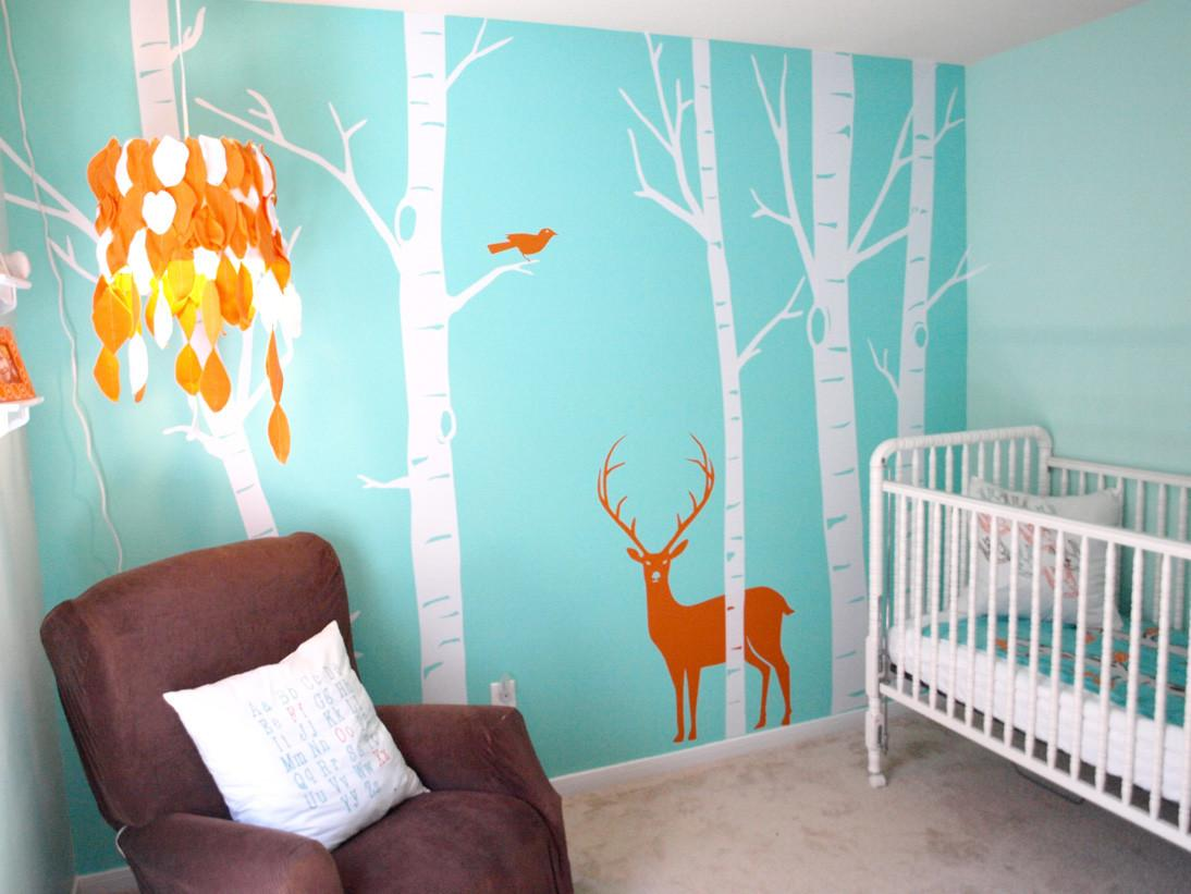 Real Room Aqua Woodsy Boy Nursery