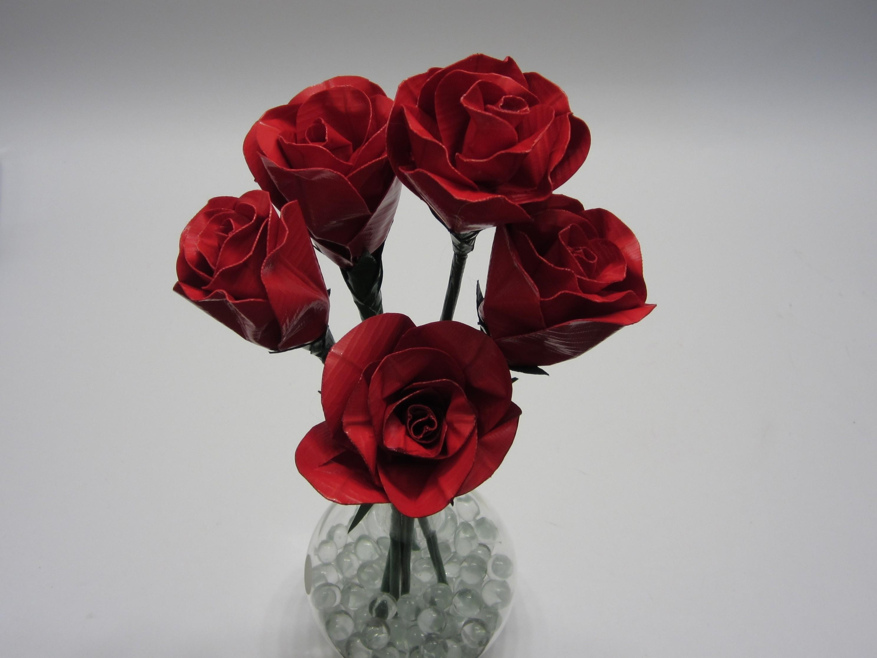 Realistic Duct Tape Rose Make