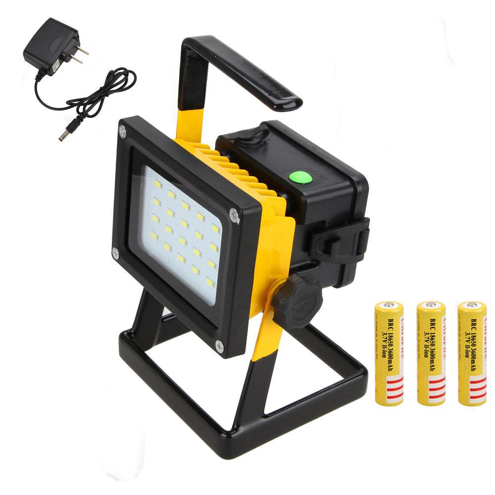 Rechargeable 30w Outdoor Portable Led Flood Spot Work