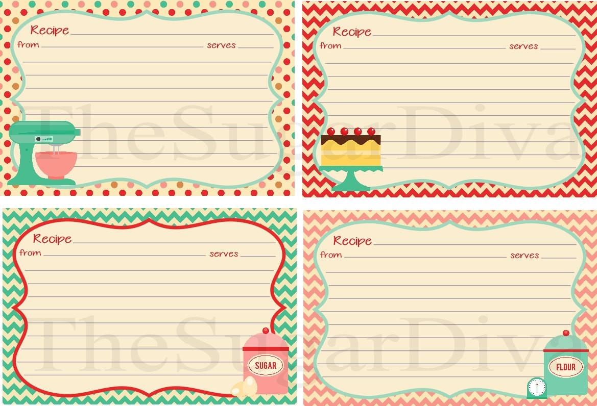 Recipe Cards Cute Cottage Style Card Diy
