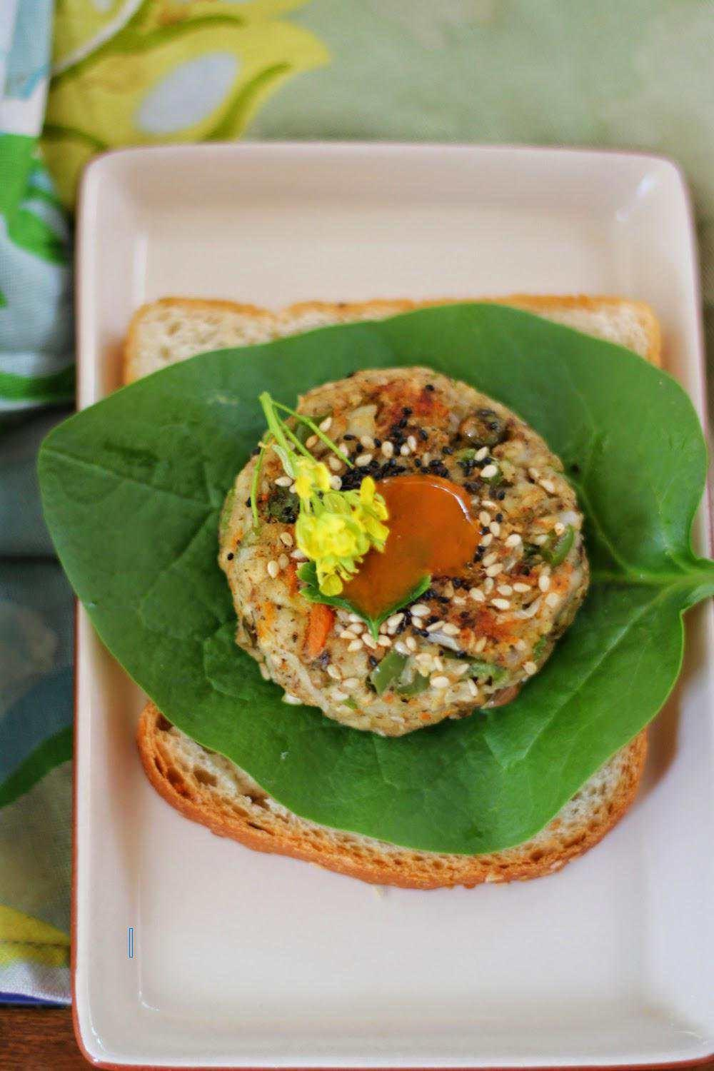 Recipe Healthy Veggie Burger Saffron Trail