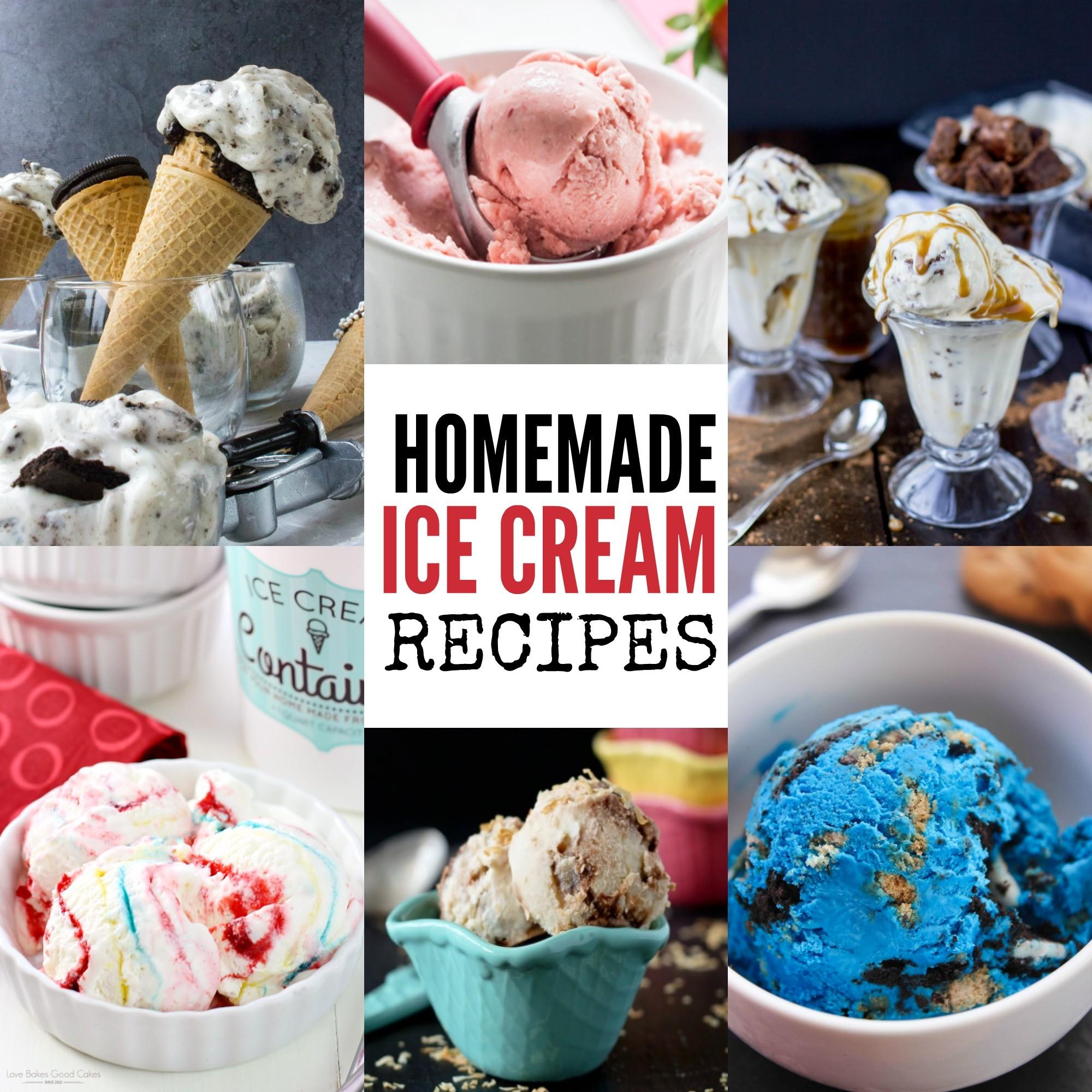 Recipes Homemade Ice Cream