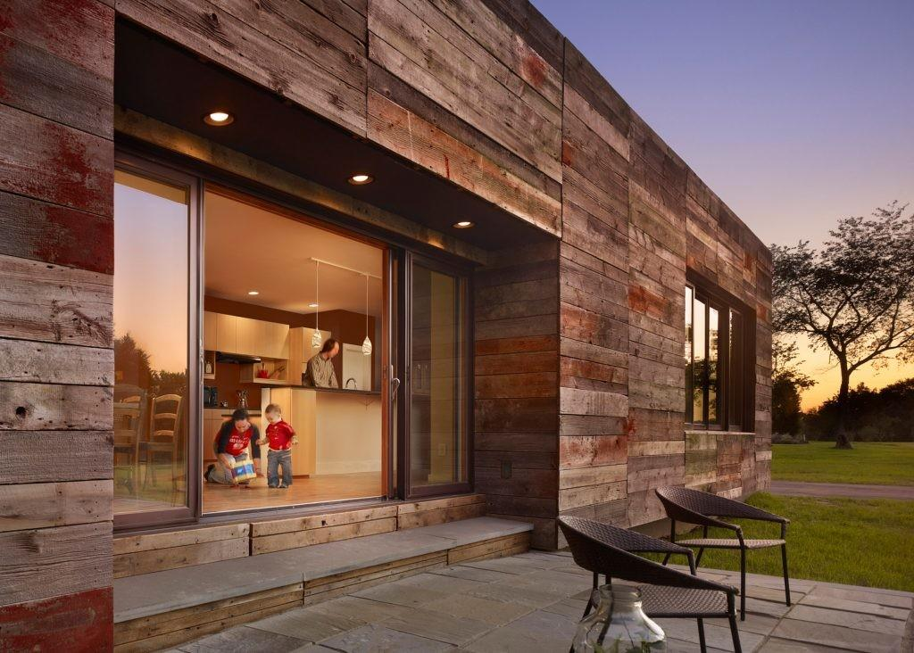 Reclaimed Barn Wood Clads Rustic Meets Modern Home Curbed